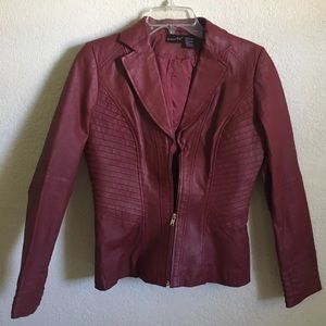 Red 100% Leather Jacket